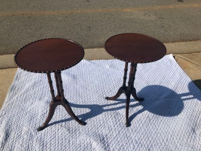 Antique Solid Wood/ Hand Built End Tables