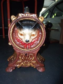 Vtg Cast Iron 'Cat and Mouse' Bank
