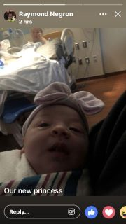 Out princess is here 8lb5oz