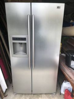 LG 25.9 Cu. Ft. Side by Side Refrigerator-Titanium