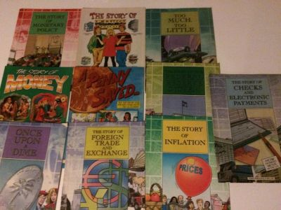 Collection Brand New educational financial comics for kids 2 sets