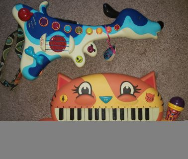 JustBU Kid's Keyboard and Guitar - Excellent condition!