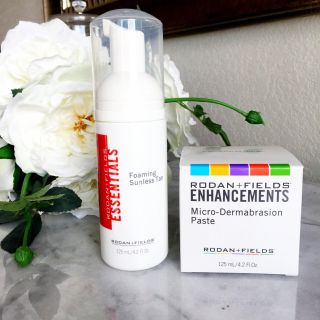 RODAN & FIELDS FOAMING SUNLESS TANNER AND MICRO-DERMABRASION PASTE BRAND NEW