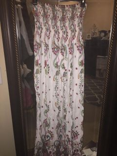 Women s Long Floral Elastic Bodice Dress - Size Small