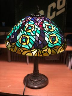 Tiffany Accent 17inch Flower Table Top Lamp
