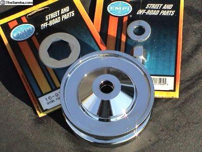 Billet alternator/generator pulley