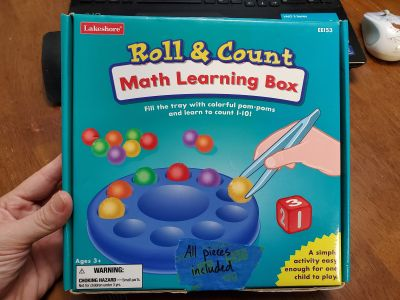 Lakeshore Roll & Count Math Learning Game Box