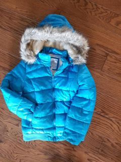 Blue Justice Puffer coat size 8/10