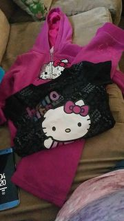 Girls size 5 hello kitty 3 piece sweat outfit