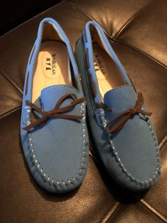 SunRolan size 8 suede slip on loafers brand new