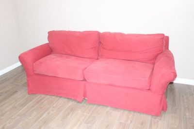 Red IKEA Couch great condition! removable cover!