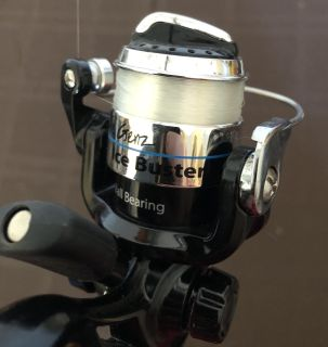 Ice buster fishing rod and spinning reel