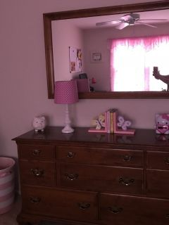 Dresser with detached mirror