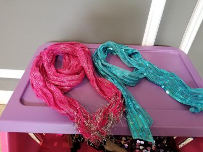 Cute, sparkly, accent girls scarves