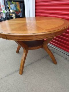 Pedestal Dining Room Table Solid Wood Traditional Furniture Round