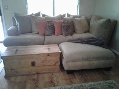 Beautiful durable oversized couch with oversized ottoman