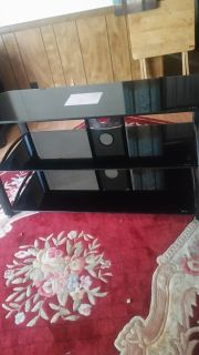 Small black entertainment center
