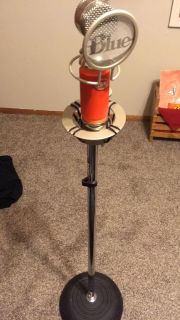 Recording microphone and stand