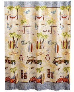 Cool surfing themed shower curtain