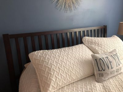 King Size Bed with footboard/frame.