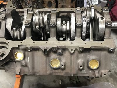 496 short block with cam and chain