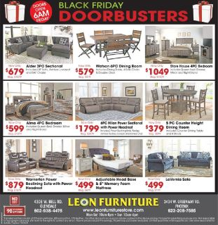 Black Friday sale 2018 starts at Leon Furniture Store