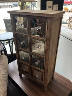 Wood and Mirror Cabinet