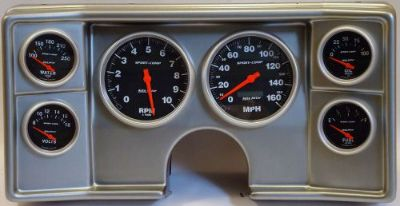 Find 78-81 Chevy G Body Silver Dash Carrier w/ Auto Meter Sport Comp Electric Gauges motorcycle in Carson City, Nevada, United States, for US $1,239.95