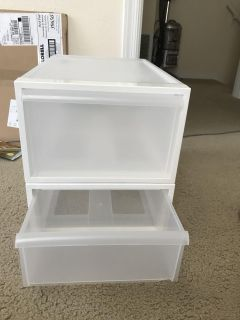 2 stacking Container Store containers