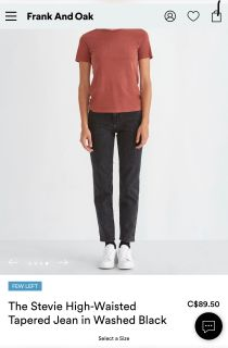 Frank and Oak new with tags jeans for Women