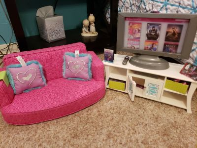 American Girl Sofa & Entertainment Center