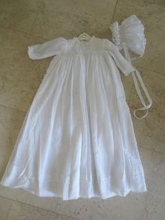 Sarah Louise Ceremonial Christening Gown with Bonnet