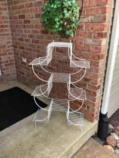 Metal plant stand.