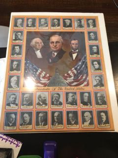 Antique Presidents of the United States poster