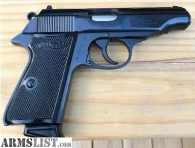 For Sale: Walther PPK--380 ACP--3.35 Inch--Semi Automatic Pistol.