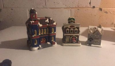 Hand painted Porcelain houses