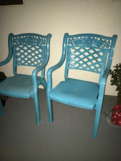 FOUR Patio Chairs