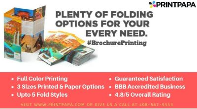 Promote your business like never before with Brochures from PrintPapa