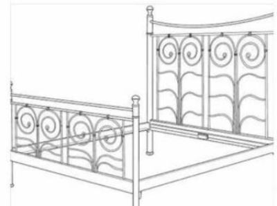 IKEA Noresund Bed Frame (Full Size) & Matching Bedside Table