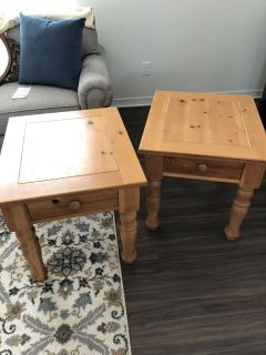 Honey Pine End Tables