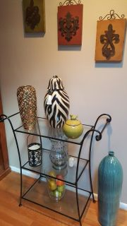 wrought iron 3 tiered entry table an decor