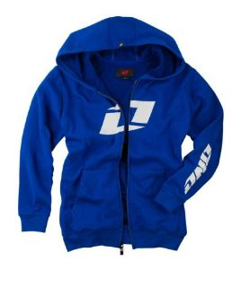 Find One Industries Icon FZ Youth Zip Up Hoody Royal Blue/White LG motorcycle in Holland, Michigan, United States, for US $26.59