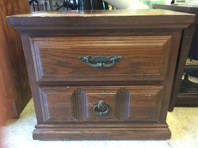 All wood night stand
