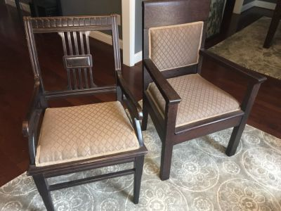 Solid antique chairs