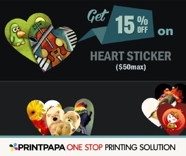 Get 15% Off on heart stickers