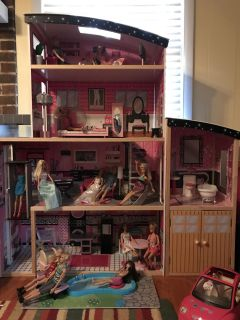 Kidkraft Sparkle Mansion - Barbie Doll House and Accessories!!