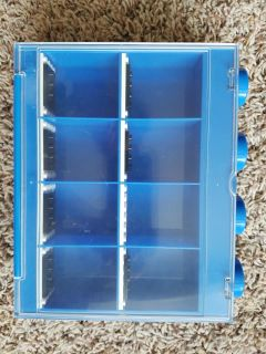 Lego Mini Fig Display Case 8 - Blue