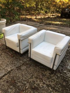 Two leather chairs free