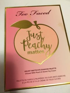 Just peachy matte palette by too faced