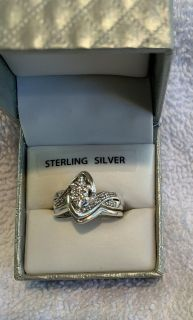 STERLING SILVER DIAMOND RING SIZE 7